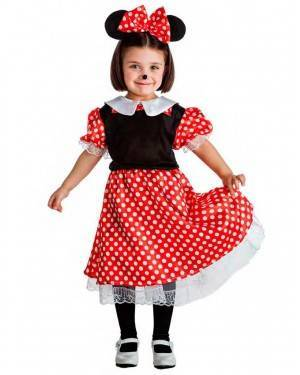 Costume Topolina Minnie Tg. 3-4 Anni