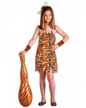 Costume Troglodita Bambina Tg. 3-4 Anni