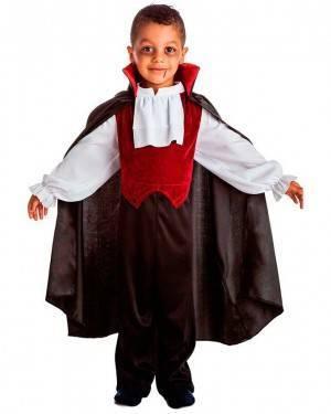 Costume Tuta Vampiro con Mantello per Carnevale | La Casa di Carnevale