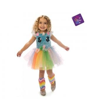 Costume Unicorno Blu Occhioni Bambina 3-4 Anni per Carnevale | La Casa di Carnevale