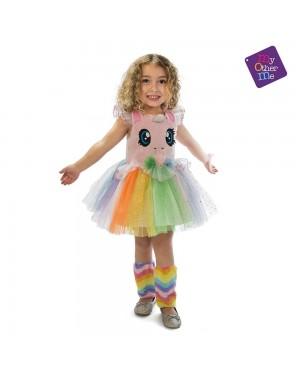 Costume Unicorno Rosa Occhioni Bambina 3-4 Anni per Carnevale | La Casa di Carnevale