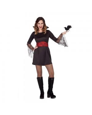 Costume Vampira Pizzo M/L per Carnevale | La Casa di Carnevale