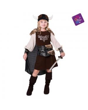 Costume Vichinga Bambina per Carnevale | La Casa di Carnevale