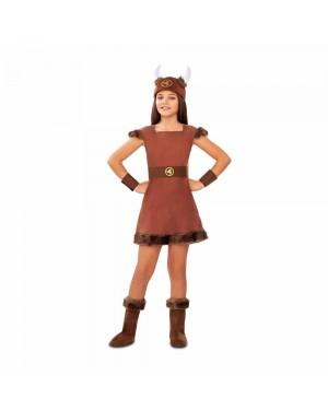 Costume Vichinga Odin Bambina per Carnevale | La Casa di Carnevale