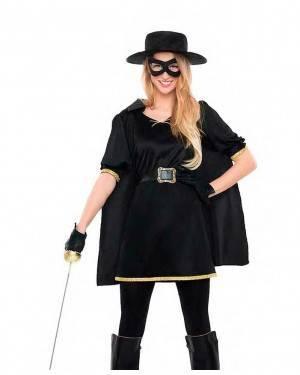 Costume Zorro-Cavaliere Mascherato Donna Tg. M/L