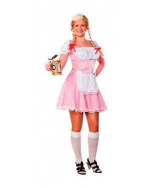 Costume Bavarese Rosa. Tg. Unica.