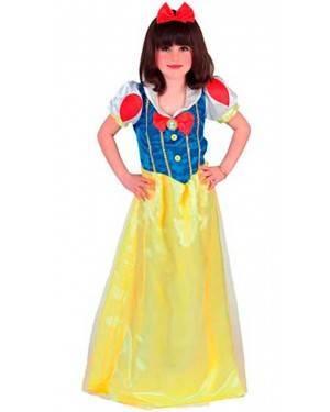 Costume Biancaneve Bambina Tg. 4 a 12 Anni