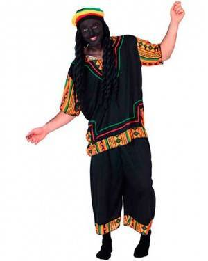 Costume Bob Marley-Rasta Adulto Tg. Unica