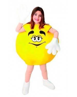 Costume Bonbon Giallo. Bambini Tg. 7 a 9 Anni