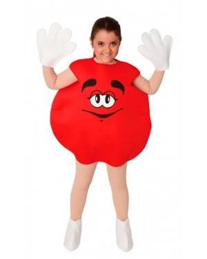 Costume Bonbon Rosso. Bambini Tg. 7 a 9 Anni