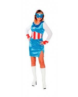 Costumi Capitan America Donna per Carnevale