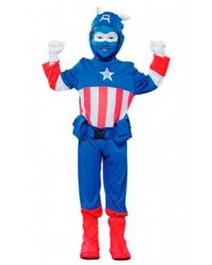 Costume Capitano Azurro. Tg. 4-12 Anni