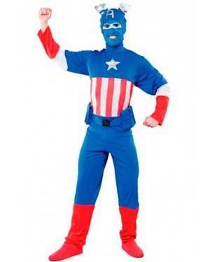 Costumi Captain Azzurro Taglia unica per Carnevale