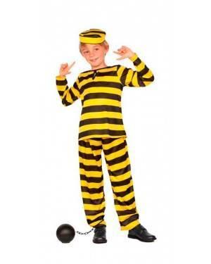 Costume Carcerato Giallo Bambino