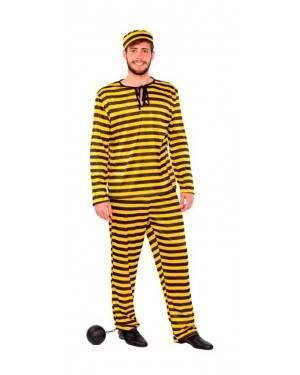 Costume Carcerato Giallo Tg.