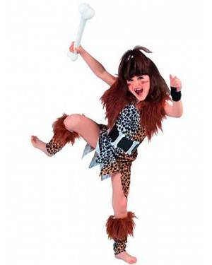 Costume Cavernicola BambinaTg. 7-12 Anni