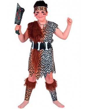 Costume Cavernicola Bambino Tg. 7 a 12 Anni