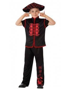 Costume Cinese Nero/Rosso Bambino