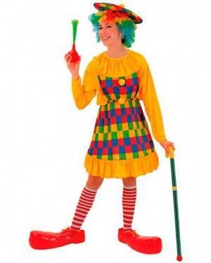 Costume Clown-Pagliaccio Donna Adulto Tg. Unica