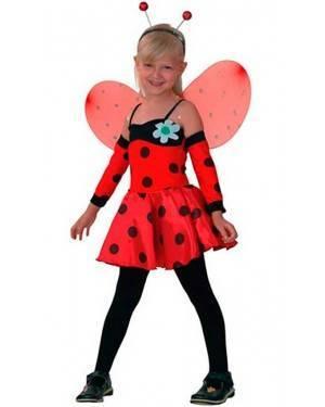 Costume Coccinella Bambina Tg. 4 a 12 Anni