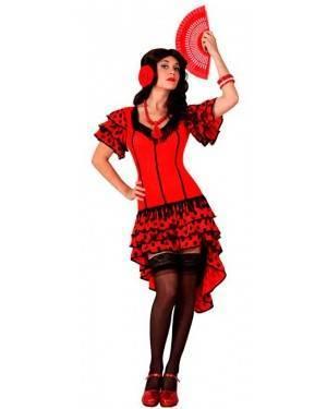 Costume Ballerina di Flamenco Spagnola Rosso