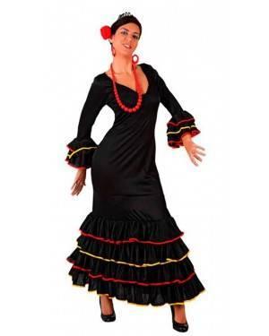 Costume Ballerina di Flamenco Spagnola Nero