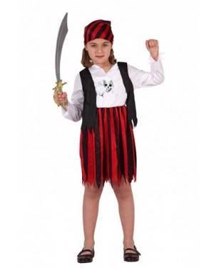 Costume Corsara Rosso/Nero