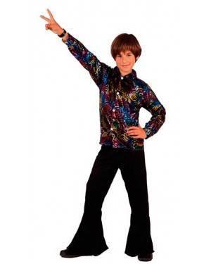 Costume Disco Man Nero Anni 70