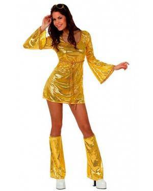 Costume Ragazza Disco Star Dorata