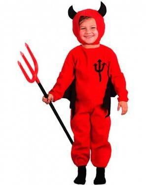 Costume Diavoletto Bambino Halloween. Tg. 2 a 4 Anni