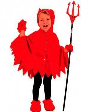Costume Diavoletto Bambino Tg. 2 a 4 Anni