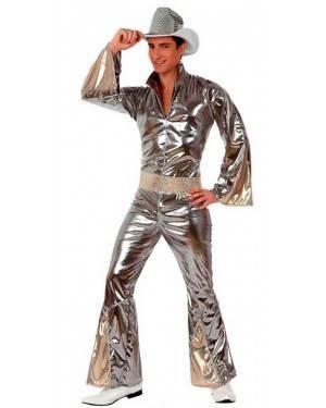 Costume Disco Argento Uomo