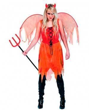 Costume Donna Alata Diavoletta Adulto Tg. Unica