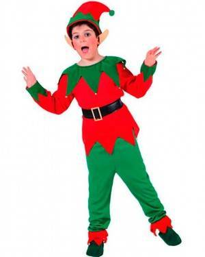 Costume Elfo Bambino Tg. 4 a 12 Anni