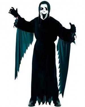 Costume Fantasma Scream. Adulto Tg. Unica