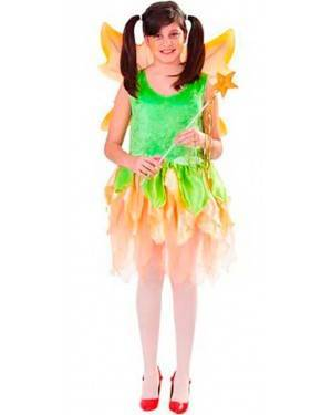 Costume Fata-Ninfa Bambina Tg. 4 A12 Anni