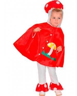 Costume Funghetto Bambini Tg. 2-4 Anni