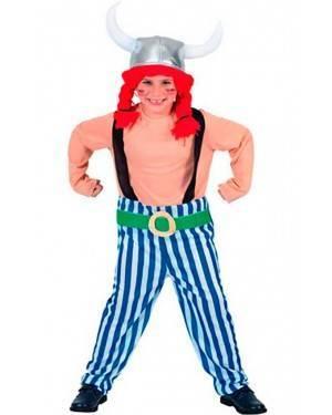 Costume Gallico-Obelix Bambino Tg. 7-12 Anni