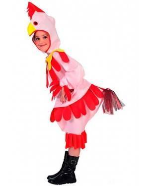 Costume Gallinella-Gallina Bambini Tg. 4 a 12 Anni
