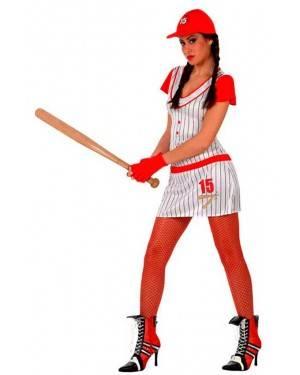 Costume Giocatore di Baseball Donna Tg. M/L