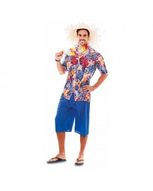 Costume Hawaiano-Hawaii Adulto Tg. Unica