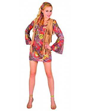 Costume Hippie Donna Adulto Tg. Unica