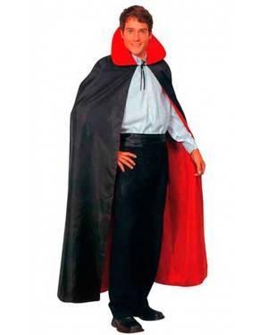 Costume Mantello Vampiro Reversibile Nero-Rosso Adulto Tg. Unica