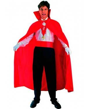 Costume Mantello Vampiro Rosso Adulto Tg. Unica