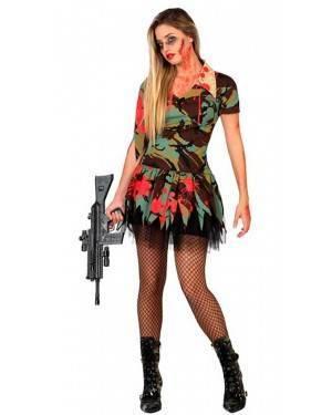 Costume Militare Insanguinato Donna