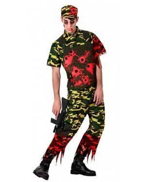 Costume Militare Zombie Adulto