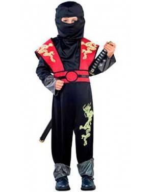 Costume Ninja Drago. Tg. 7-12 Anni