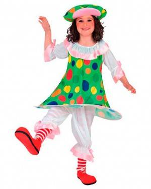 Costume Pagliaccio-Clown Bambina