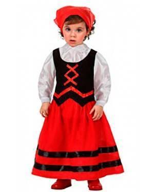 Costume Pastorella Rosso e Nero
