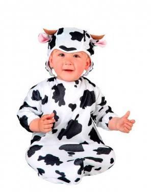 Costumi Piccola Mucca Bebè Taglia 0-6 Mesi per Carnevale